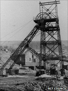 Maerdy colliery archive photo circa 1952