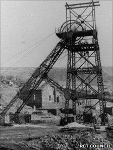 Maerdy colliery archive photo circa 1952