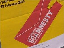 Scamnesty poster