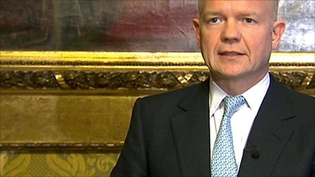 Foreign Secretary William Hague