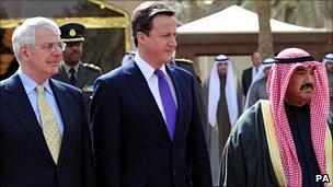 John Major, David Cameron and Kuwaiti PM Sheikh Nasser al-Mohammed al-Sabah