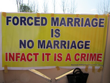 Anti-forced marriage sign