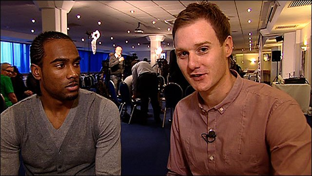 Cameron Jerome and Dan Walker