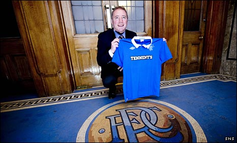 Ally McCoist shows his delight at Ibrox