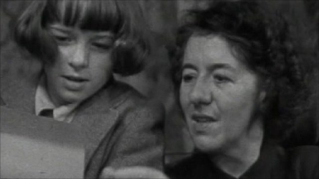 Enid Blyton with her daughter Imogen