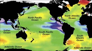 Ocean pH levels (Image: BBC)