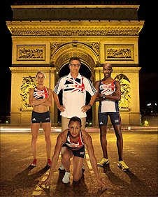 Jenny Meadows, Charles Van Commenee, Mo Farah and Jessica Ennis
