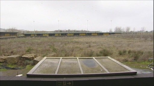 Gloucester City's old derelict stadium
