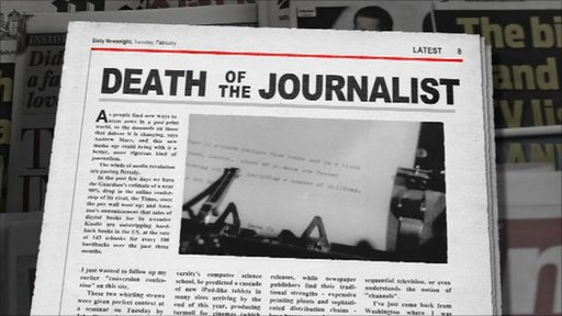Death of the journalist graphic