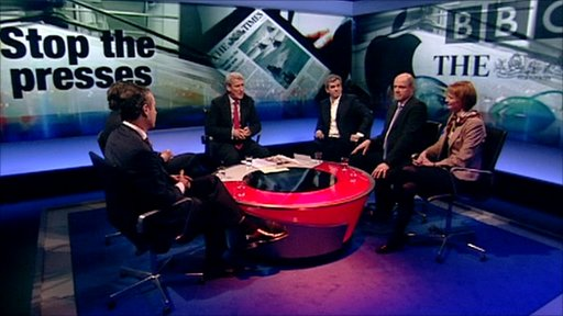 Newspapers discussion panel