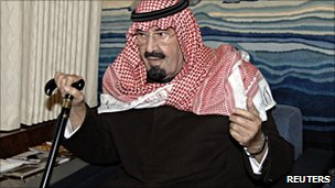 Saudi King Abdullah en route to Morocco (22 Jan 2011)