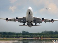 Plane taking off at Gatwick