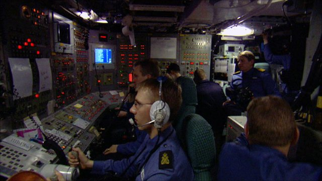 Inside a Trident missile submarine