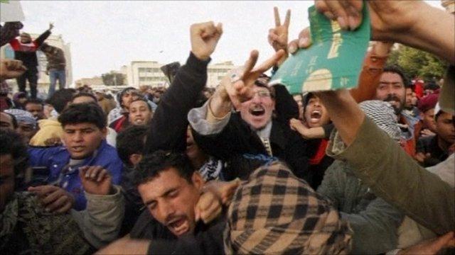 Protesters in Tobruk