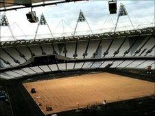 View inside Olympic Stadium