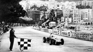 Monaco Grand Prix Automobile race on May 14, 1961