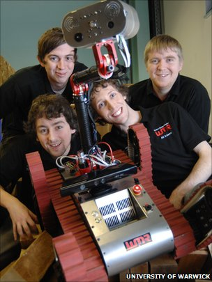 Robotics team from the University of Warwick