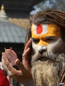 Holy man or Sadhu in Nepal