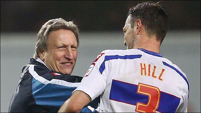 QPR's Neil Warnock and Clint Hill