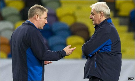 Ally McCoist and Walter Smith chat in Lisbon