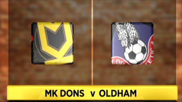 MK Dons v Oldham