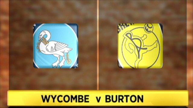 Wycombe 4-1 Burton