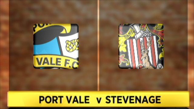 Port Vale 1-3 Stevenage