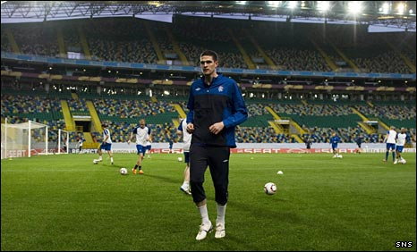 Rangers train in the Alvalade Stadium