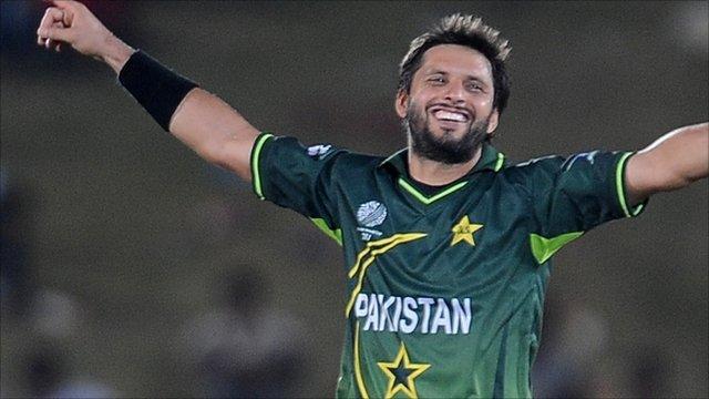 Pakistan captain Shahid Afridi