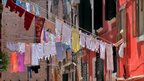 Washing on clothes lines in Venice, Italy.