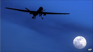 Predator drone on a mission in Afghanistan