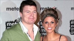Brian O&#039;Driscoll and Amy Huberman