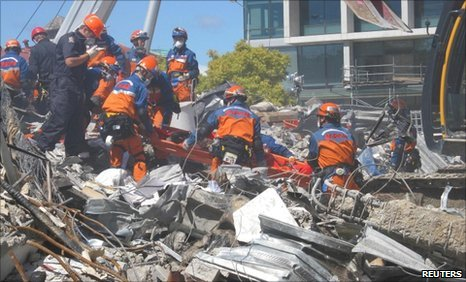 Rescue working are still searching through rubble in Christchurch