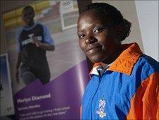 Namibian sprinter Merlin Diamond.  Photo copyright Matt Grayson
