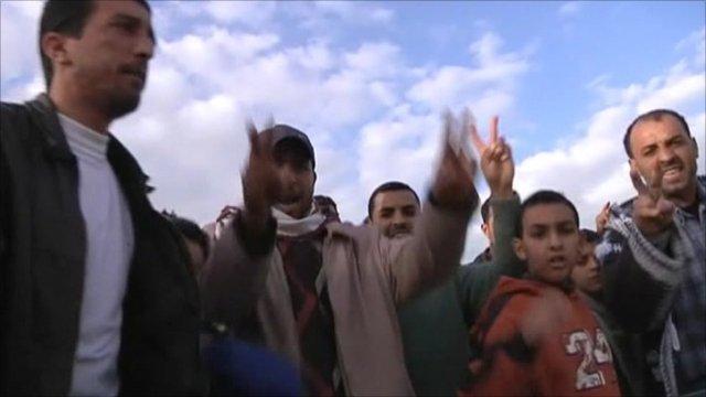 Locals in East Libya