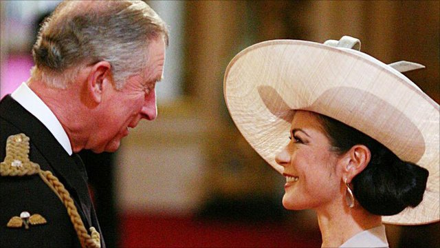 HRH Prince Charles and Catherine Zeta Jones CBE