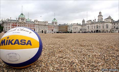 Beach volleyball at Horse Guards Parade