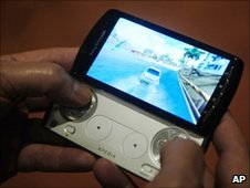 "A new mobile phone ""Xperia play"" by Sony Ericsson"