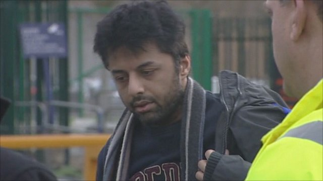 Shrien Dewani arriving at Belmarsh Magistrates' Court on 24 February