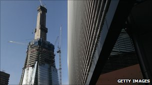 Building work on The Shard