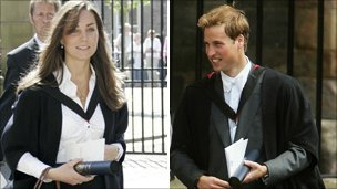 Kate and William at their graduation