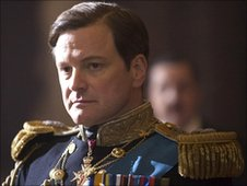 Actor Colin Firth played King George VI in The King's Speech