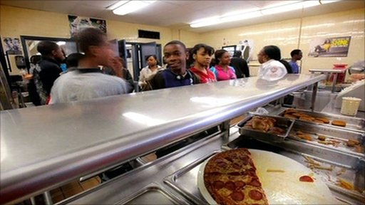 Huntington Middle School canteen