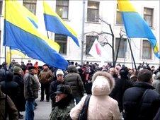 Tax protest in Kiev