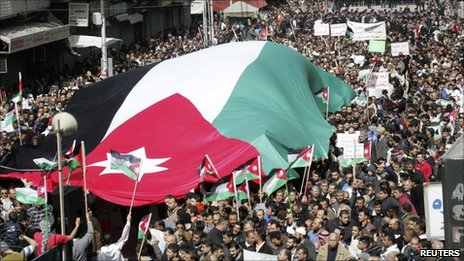Protesters in Amman, 25 Feb