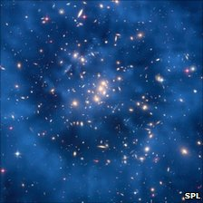 Hubble image of cluster CI 0024+17