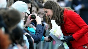 kate Middleton on a walkabout