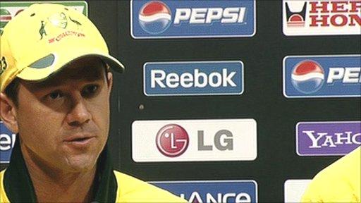 Australiam captain Ricky Ponting