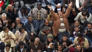 Prayers in Benghazi, 25 February 2011