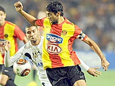 Ousama Darragi of Tunisia, in action for Esperance